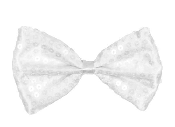 Csokornyakkendő fehér flitteres (52925-B)