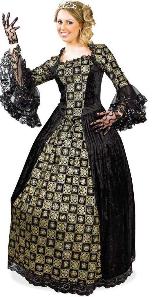 barokk női jelmez (44  méret)-24705