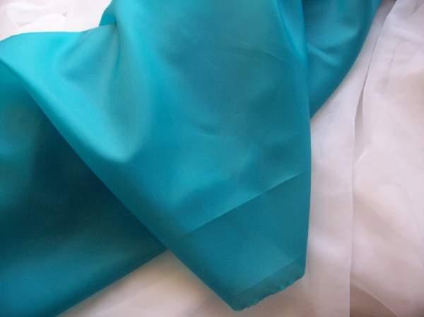 Türkiz selyem dekoranyag (150 cm széles)- méterre