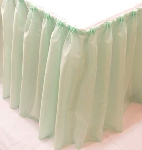 Asztalszoknya dekorselyem (450 cm* 75 cm) menta