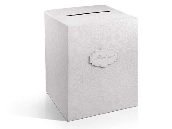 nászajándék gyűjtő doboz, 25x25x30 cm -(PUDT5EN)