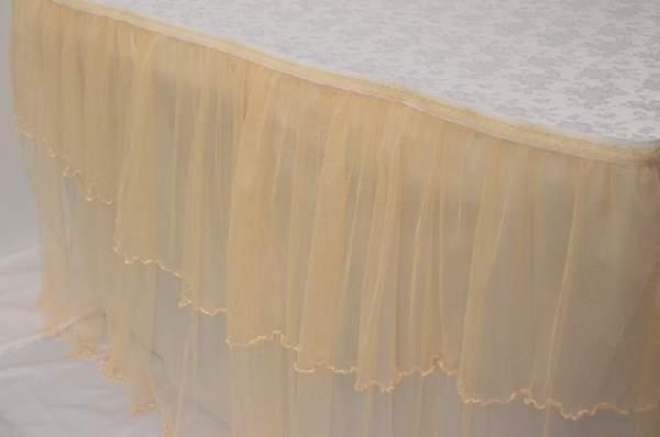 főasztal dísz tüll, krém (140 x 75 cm)