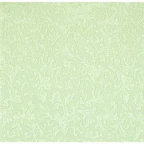 v.zöld dombornyomott szalvéta, fényes,  33x33 (16 db)-74405