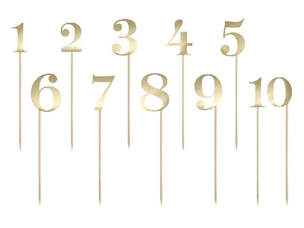 asztalszám (1-10), arany