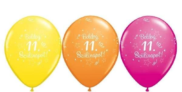 Boldog 11. születésnapot ! lufi (5 db)