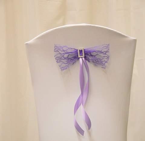 székhuzat dísz csipke, lila ( 20*30 cm)