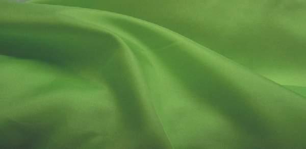 élénkzöld selyem dekoranyag (150 cm széles)