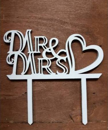 vintage esküvői tortadísz (Mr. és Mrs)-53391 - </b>JELENLEG NINCS KÉSZLETEN !