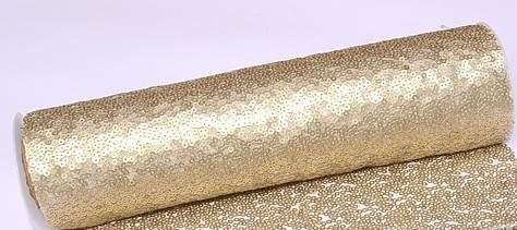 Flitteres dekoranyag (25 cm * 3 m), arany-014