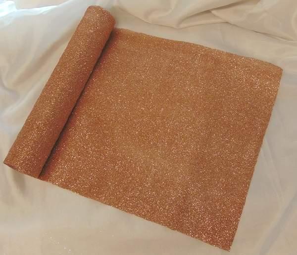 glitteres dekoranyag (28 cm * 5 m), rosegold-1702