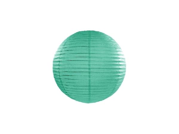 sötét mentazöld papír lampion gömb 25 cm-es (088)