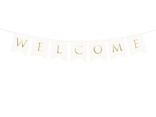 Welcome felirat fehér( 15x95 cm)