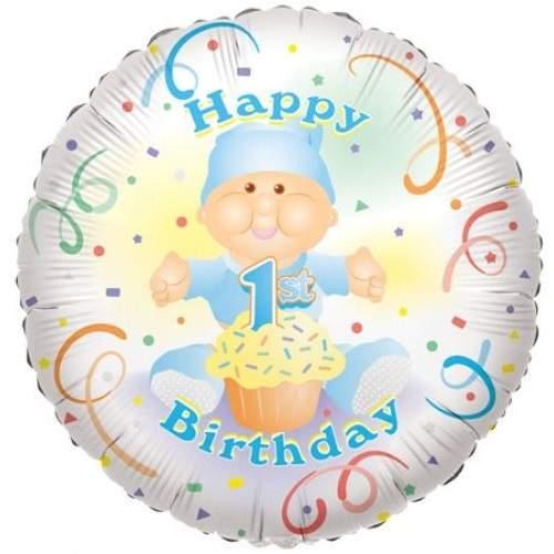 Happy 1. Birthday !fólia lufi (45 cm) kék-17649