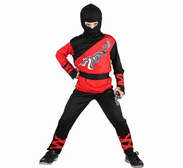 sárkány ninja gyerek farsangi jelmez 130-140 méret- 087675