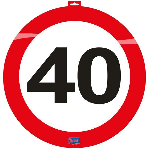 közlekedési tábla 40. (48 cm)