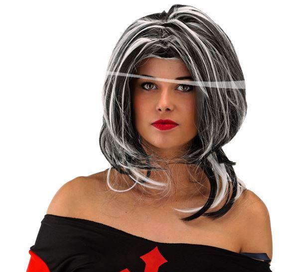 Halloween paróka, fekete-fehér - 26743