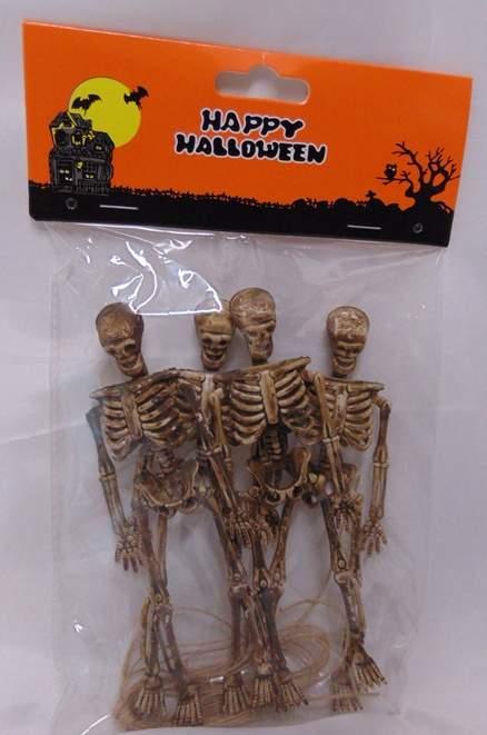 csontváz dísz műanyag ,15 cm-s (4 db)