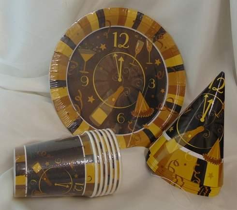 szilveszteri papírcsákó arany (6 db)