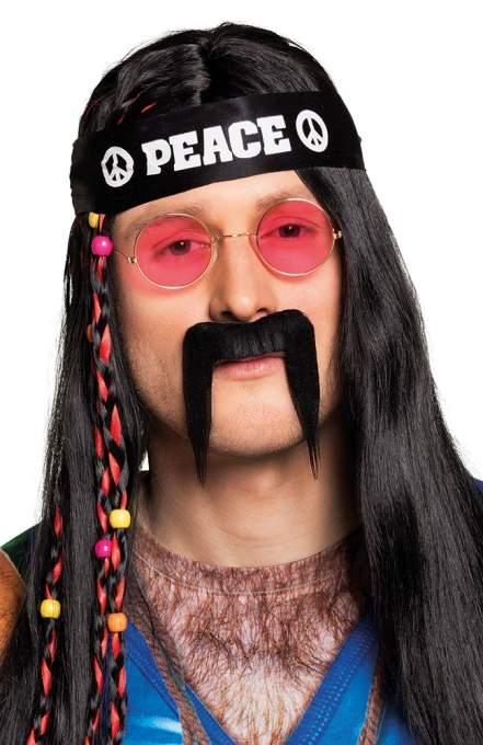 hippie bajusz , fekete-01822-B