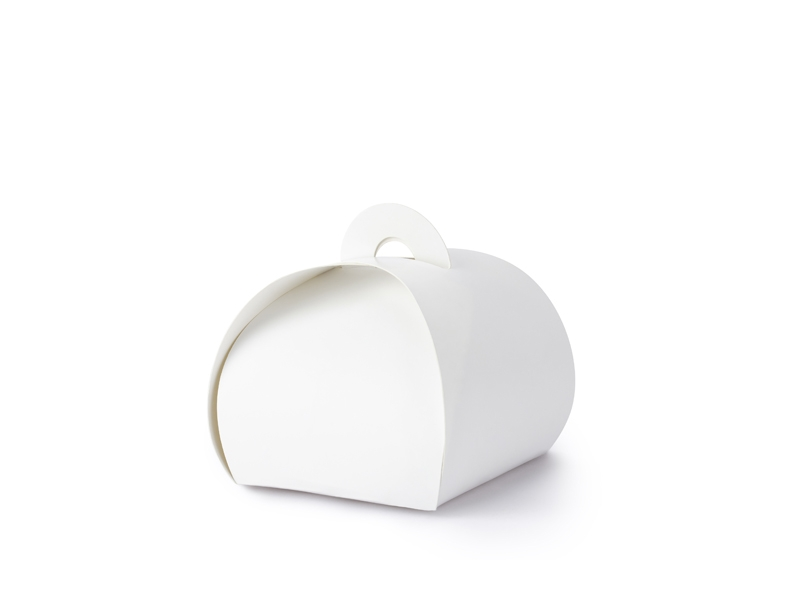 papír dobozka, fehér (6*6*5,5 cm)- 10 db