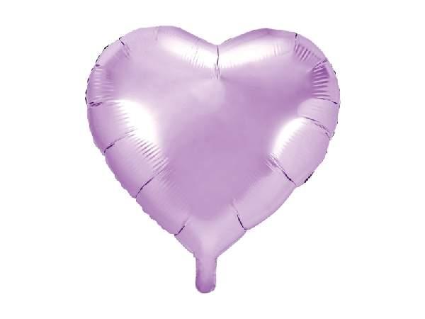 Szív alakú, levendula lila fólia lufi (45 cm)