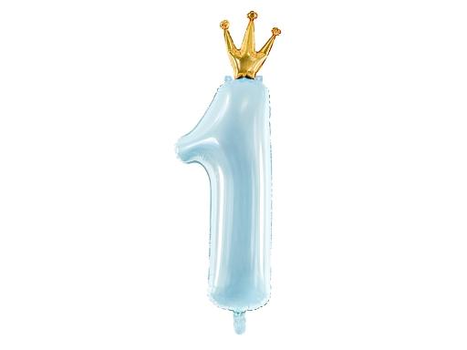 1. évszámos lufi (80 cm-s ) v.kék