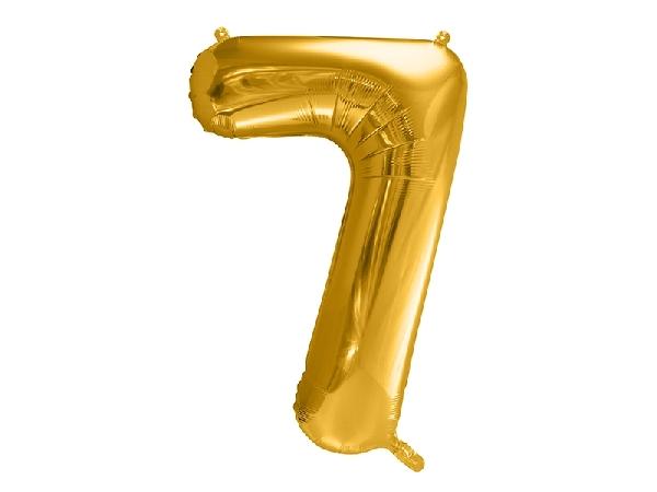"""óriás szám fólia léggömb """"7"""", arany"""
