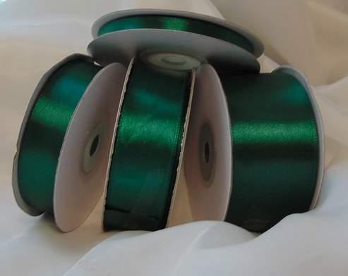 Szatén szalag smaragdzöld (HS-625)-(2 cm * 22 m)