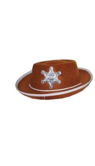 gyerek cowboy kalap barna, sheriff csillaggal-50363