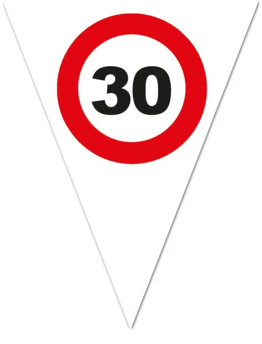 zászlógirland 30. közlekedési táblás ( 5 m )