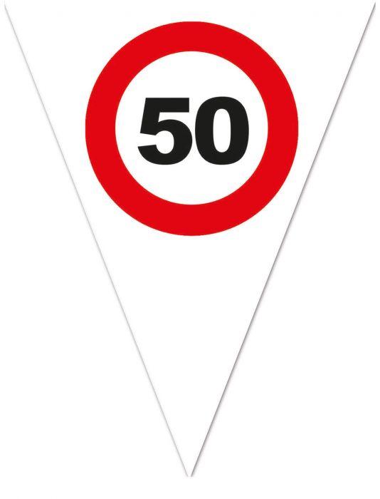 zászlógirland 50. közlekedési táblás ( 5 m )