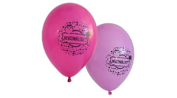 Ballagási, pink gumi lufi, Megcsináltad ! - 10 db