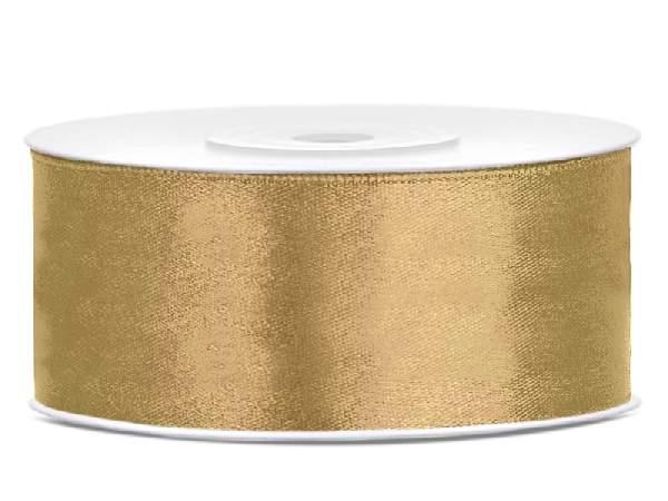 Szatén szalag arany (HS-15)-(3,8 cm * 22 m)