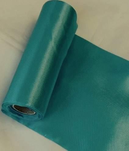 szatén selyem asztali futó (23 cm * 10 m) türkiz