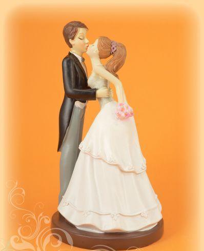 esküvői tortadísz puszis , 16 cm-305000-(12654)
