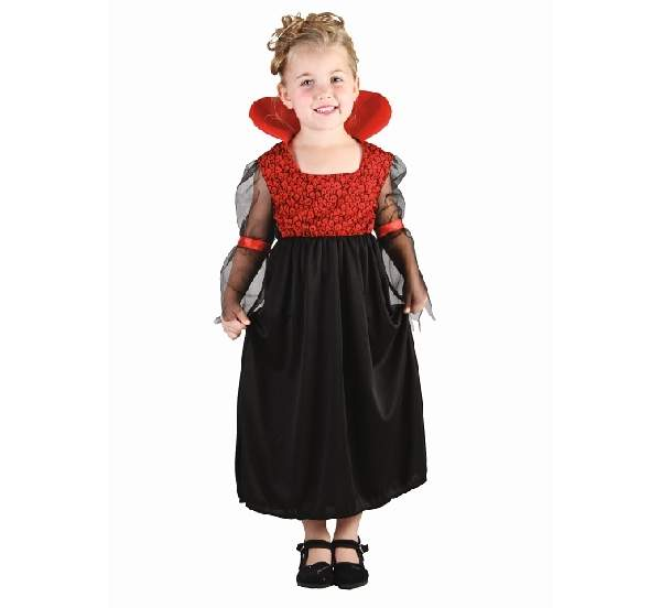 Vámpír lányka jelmez (92-104 méret)-82765