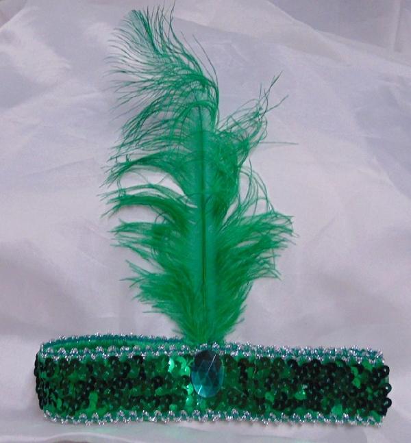 Charleston fejpánt zöld