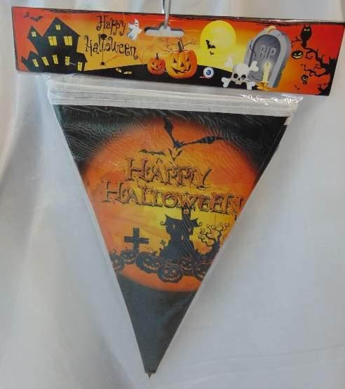 Happy Halloween zászlógirland (2,2 m)