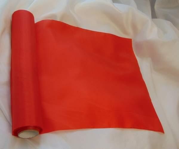 dekorselyem asztali futó piros - 001 (25 cm * 10 m)