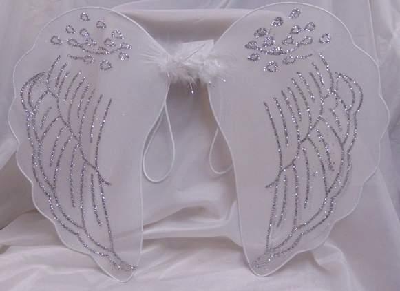 angyalszárny fehér, glitteres (42*44 cm)