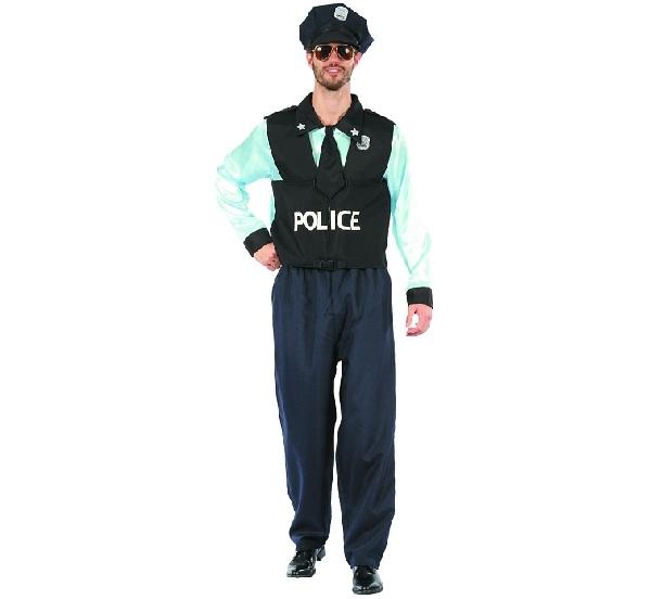 Rendőr férfi jelmez (SDPON-LU52) - 52 méret
