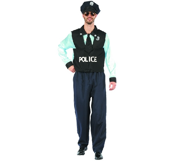 Rendőr férfi jelmez (SDPON-LU56) - 56 méret